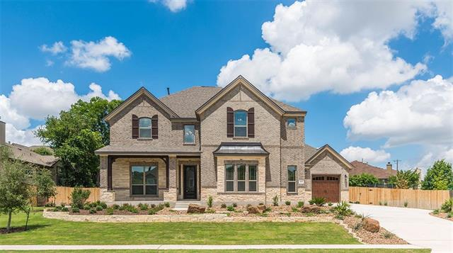 BRAND NEW from Scott Homes Forest Creek Executive Collection! Come see this Fully Loaded home with too many Features to list! Popular open plan is perfect for entertaining w/chef's kitchen overlooking family room/soaring stone fireplace/tons of natural light. Luxurious downstairs Master with sitting area/private access  to covered patio makes a perfect evening retreat. Highly desired Guest bed w/full bath down. Technology package! Rich landscaping adorns frt/rear yards.
