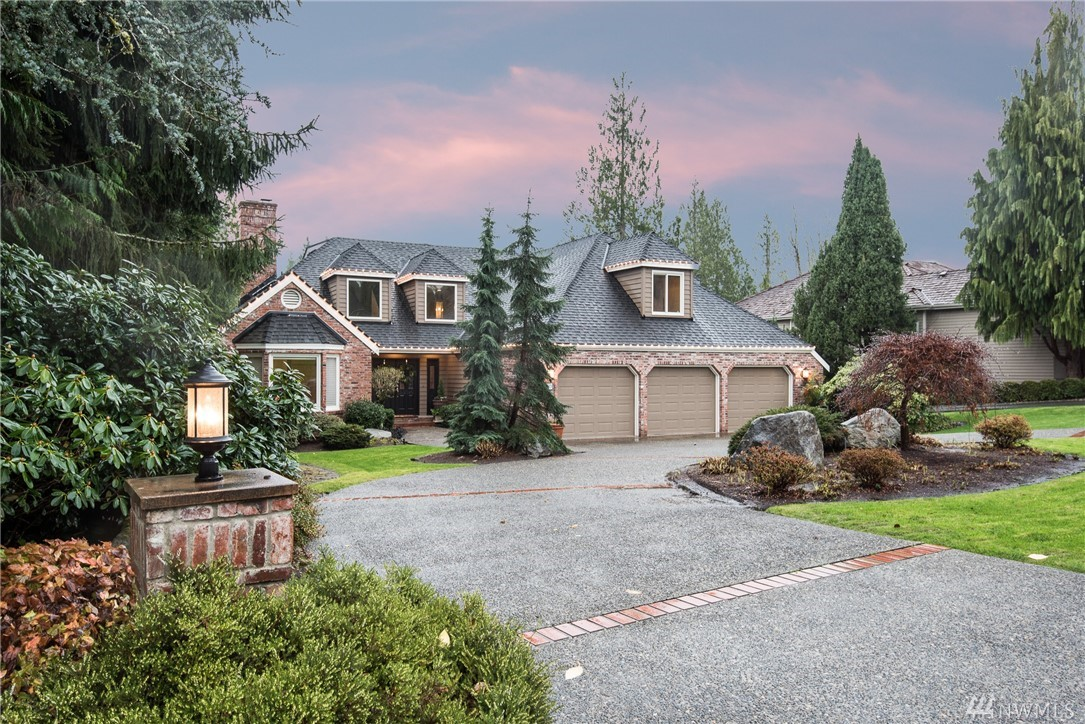 Custom home in gated Bear Creek Country Club. Sought after Master on Main with spa-like en-suite & walk in closet with tons of storage. Upgrades include new wood floors, carpet, lighting, paint, Ipe-wood deck & power awnings. Open concept living with gourmet kitchen. Bonus/Media Room & panoramic golf course views. Huge 3+ car garage with cart storage & self-start generator.