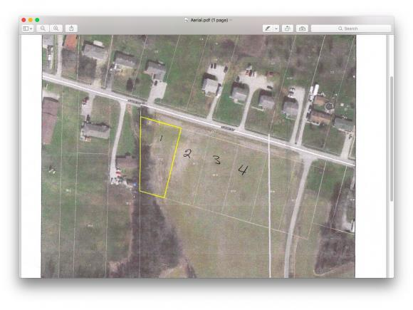 Lot # 1; Additional lots available. (2,3 & 4).  Great building lots.  City utilities available.