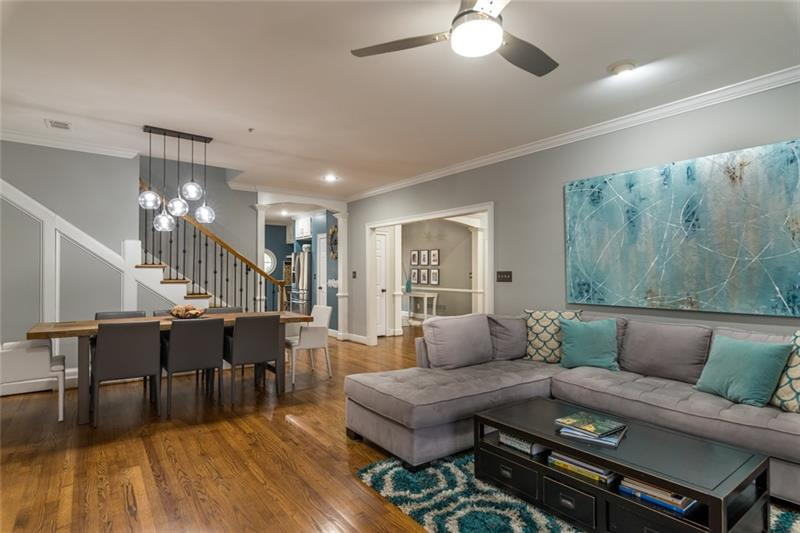 Family/great room is quite open & makes for plenty of room for entertaining & welcoming guests!