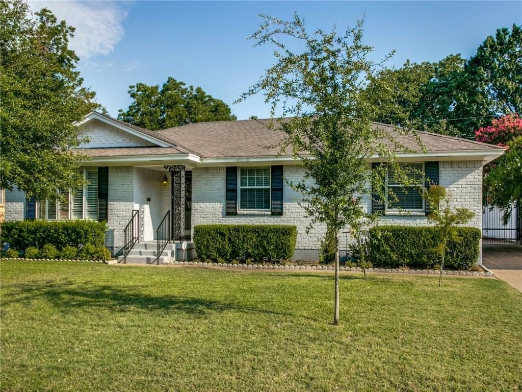Wonderfully loved home with recent paint and carpet, beautiful original hardwood floors. Thermal windows, sprinkler system, good roof, fenced with electric gate, vinyl fence. Kitchen updated about 15 years ago and still very nice. This home is ready to make your own.