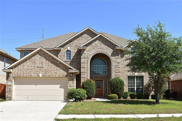 GREAT HOME FOR LARGE FRIENDS & FAMILY GATHERINGS. Over 3,500 sq.ft. of pen floor plan on Cul-de-sac. Kitchen boasts gourmet kitchen w/built in appliances, gorgeous granite counter tops, island, breakfast area & formal dining. Cozy fireplace in spacious living room. Sweeping staircase leads to large upstairs game room, media room wplatform for stadium seating, 3 large guest rooms & full bath. Downstairs Master offers bay windows, dual vanities, walk-in closets & garden tub. Auto sprinklers & covered patio.