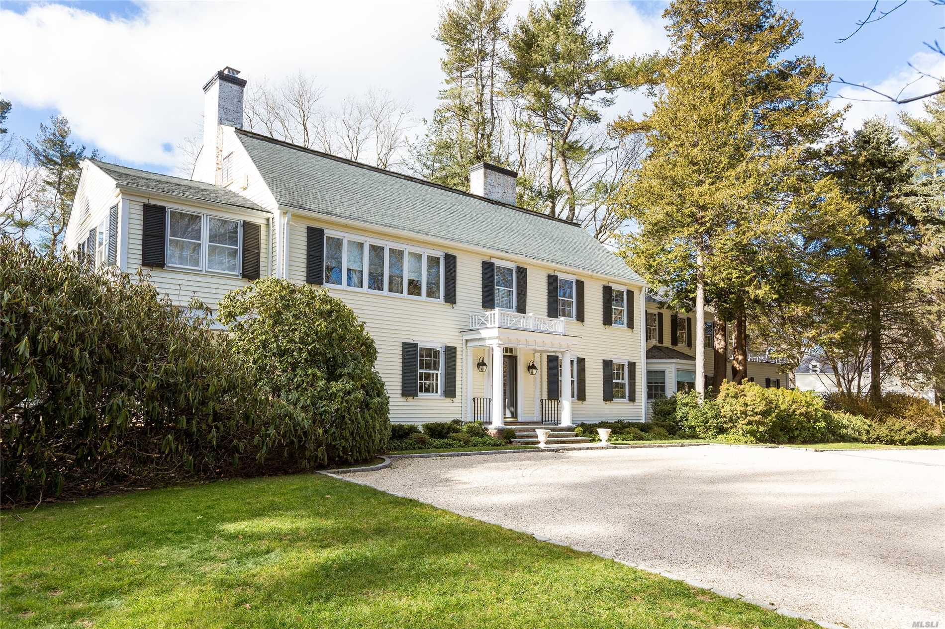 Old World Charm Exudes This 6 Bedroom Colonial Built In 1900, Updated In 2018. Brand New Kitchen And Family Rm. Fabulous Flat Land And Landscaping, Ig Pool, Plus A Two Bedroom Apt Over The 4 Car Garage And Greenhouse. Legal Two Acre Building Lot Partitioned. Walk To Town, Shopping And Train.