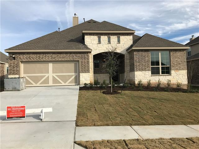 New Yale design, one-story home with Over-sized Kitchen Island, Enlarged Master Shower, and Covered Patio. Available NOW!