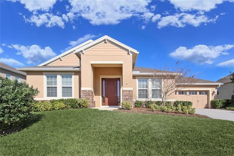 """Why wait to build when this beautiful MOVE-IN READY home is available now?! Nestled in the prestigious community of Chandler Estates.The picturesque park-like setting features rolling hills, mature trees and is located close to the 429, Hwy 441, the new Florida hospital and is just half a block to the community park. Fall in love with the architectural details and archways throughout! **Modern updates include a whole home RAINSOFT WATER FILTRATION SYSTEM (2015), 2 INCH FAUX WOOD BLINDS, and CUSTOM WALNUT NOOK INLAY (2016). ** Your gourmet kitchen showcases 42"""" cabinets, a tile backsplash, granite countertops, stainless appliances and an island for additional meal prep and beautiful pendant lighting. Natural light abounds in your formal living room from the abundant windows, and the formal dining room boasts an elegant tray ceiling. Escape to your spacious master suite with tray ceiling, his/hers walk-in closets and a private entrance to your screened lanai. Step into your master bath with a relaxing garden tub and dual sinks. Enjoy your outdoor living space on your screened lanai with a cabana bath and your over-sized yard with the added privacy of a PVC fence (2016). Experience the peaceful Chandler Estates community and experience life as it was meant to be!"""