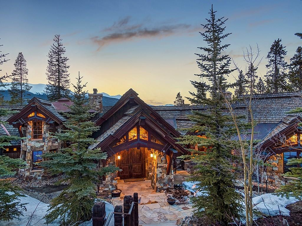 This custom Allen-Guerra Shock Hill experience is beyond exceptional. Set on an incredibly private 1.7-acre homesite, bordering open space and Nordic trails, perched over Cucumber Gulch, and looking directly at the Ten Mile Range. The design is complimented by exquisite timber trusses supporting the entire main level, handcrafted stone work, 5 fireplaces, and an inspiring master suite. Don't forget the gondola mid station is just around the corner for incredible Breckenridge Ski Area access.