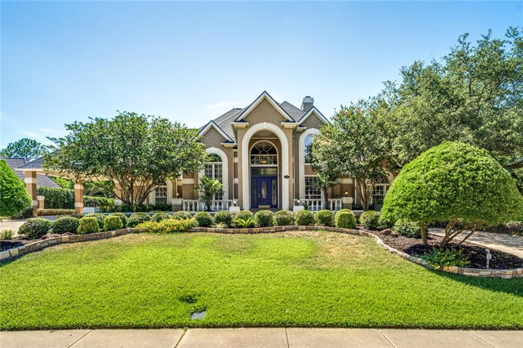 Incredible opportunity to own a home in one of Colleyville's most sought after neighborhoods - Prestegous Thornbury Estates! 24-hour guard gated community offers amazing location with quick access to multiple highways, DFW Airport & GCISD schools! Enjoy relaxing or entertaining in your large & beautiful backyard with mature trees, Diving pool, spa, sport court, pond with rock waterfall & Gazebo! BRAND NEW Class 4 ROOF-May 2018!! 5 bedrooms(or 4 bedrooms w media room), 5 full & 1 half bath, over half acre lot, 3 Fireplaces & Porte cochere! Wood floors, crown moulding, Thermador kitchen appliances, dual dishwashers, built-in Miele coffee maker, granite countertops & more! Remote side gate to 3 car garage.