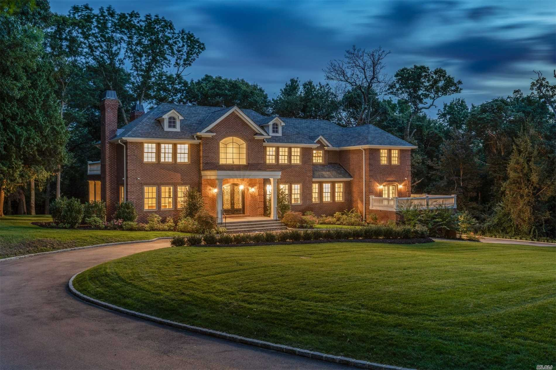 Brand New Construction! Stunning Brick Colonial Sited On 2Acres Bordering A Nature Preserve. Located On A Quiet Cul-De-Sac, This Timeless Beauty Blends Classic Design With Modern Technology. Notable Highlights Include An Impressive 2Story Entry, Gourmet Eat-In-Kitchen, Imported Walnut Flooring, Master Suite With Fireplace, Terrace & Spa-Like Marble Bath, All En-Suite Bedrooms, Full Finished Lower Level W/ Theatre, 3Car Garage, & Control4 Security System. Excellent Location. Top Schools Nearby!