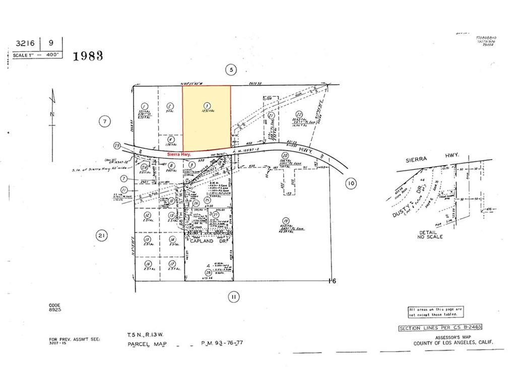 68 ST. WEST AND SIERRA Highway, Agua Dulce, CA 93510