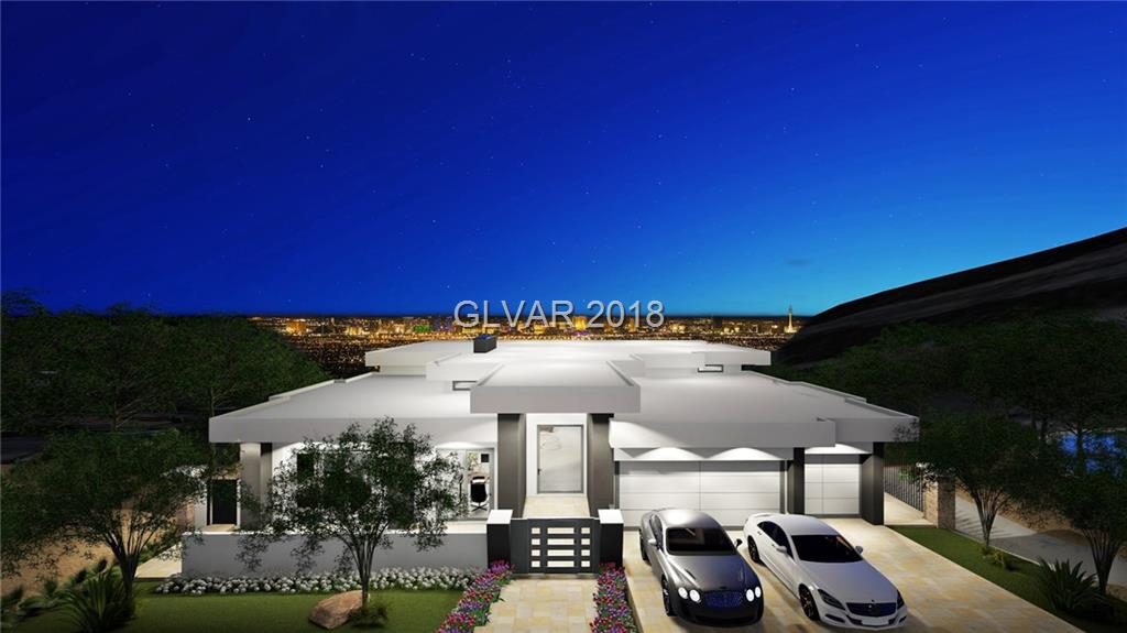 6774SF,4 Bd,6 Ba,3Car. NEW Modern Custom Elevator, Soaring 14' Ceilings,Pocket Doors/Walls,Multiple Terraces,White Hues, Elegant Interiors, Thermador® Kitchen, Waterfall Countertops, Stone Floors, Theater, Office, 2 Wine Bars, Infinity Pool & Spa. Full Strip, Golf, City & Mntn Views. Richard Luke, AIA, Tiffany Sparks, Interiors.  Paid Club Initiation & 1 Year Membership. Can Select Finishes & Personalize. Completion Q4 2017