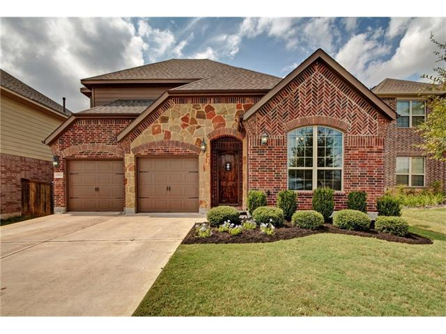 Gorgeous Megatel 1.5 Story home w/all the BELLS & WHISTLES! Living room has a cozy electric/gas fireplace & beautiful tray ceilings~ open to the formal dining & kitchen w/custom details & alder wood cabinets. Stainless steel appliances & huge center island w/granite countertops. Master has large bay window & master bath has double sink custom vanity w/jetted tub & separate shower~walk in closet. BONUS room up w/full bath! Tankless water heater~4 sides brick~no neighbors behind. THE HEART OF SOUTH AUSTIN!