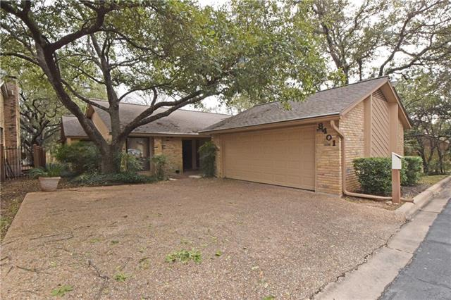 Don't miss this opportunity to live in highly sought after NW Austin location. Single story, spacious, stand alone home in townhome community. HOA includes two community pools, tennis court and clubhouse. Exceptional location, just 3 blocks to Anderson HS & Hill Elementary. Home is located at the end of a quiet cul-de-sac, next to a common green space, overlooking a wet weather creek. Private backyard!