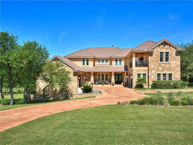 Here is your chance to have it ALL!!! Gated Neighborhood + 1.325 Acre of Land + 4 Car Garage + Office/Study + Gameroom + Media Room + Hill Country Views + PLUS Opportunity to purchase boat slip at Costa Bella marina! Lots of outdoor living with an expansive covered porch with fireplace, upstairs balcony with expansive hill country views & Large backyard with sport court * Great Lake Travis Schools