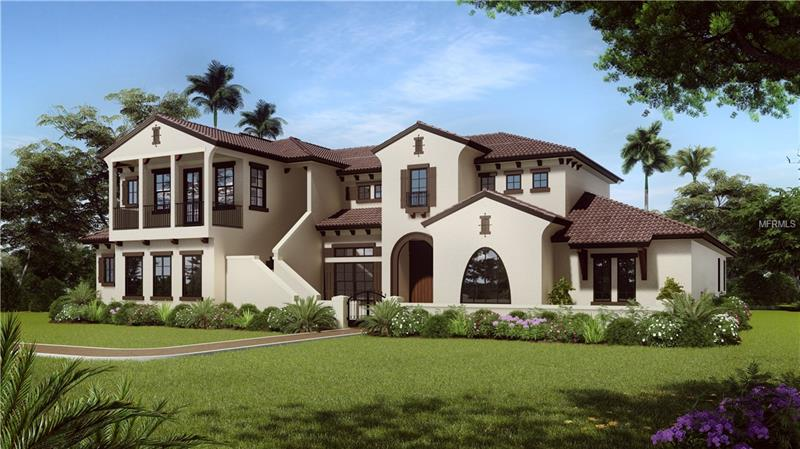 ARTIST RENDERING OF 'TUSCAN' ELEVATION/LeJARDIN. ACTUAL HOME WILL BE SLIGHTLY DIFFERENT IN COLORS AND DETAILS.