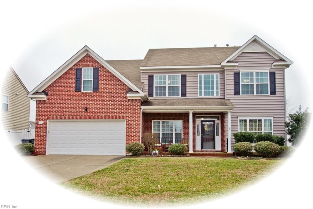 This Hampshire Glen model home pulled out all the bells & whistles and has been well maintained by one owner.  Immaculately move in ready with open floorplan and high ceilings.  Lots of space to host friends & family on the 1st floor with a bedroom, full bathroom, dining room, living room, family room and a kitchen featuring granite countertops, pull out drawers, wine fridge, stainless steel appliances and eat in area.  Retreat upstairs after a full day to 4 spacious bedrooms.  The master suite includes a double sided fireplace, jetted tub, separate shower, double vanity and walk in closet with extra storage.  2nd bedroom comes complete with a full bathroom of its own while the 3rd and 4th bedrooms share a full jack & jill bathroom.  Yes, you read that right.. no more fighting over bathrooms! Enjoy the fenced in backyard with a sprinkler system or take a short walk to the neighborhood playground in this centrally located community just minutes from shops, dining, entertainment, and the interstate.