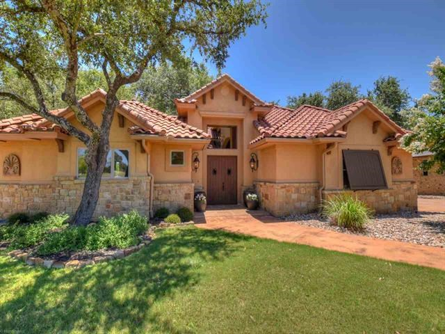 Custom Home in gated Siena Creek, sits on .88 acres w/tranquil views of Pecan Creek. Main floor includes 2 living areas, dining room, kitchen, butler's pantry, wine closet, breakfast area, powder room and large MBR suite. For guests and family, there are 2 bedrooms upstairs each with its own private balcony. There is a separate casita w/full bath, located in the large beautifully landscaped courtyard. Spectacular backyard w/trees, grassy areas, large outdoor fireplace & slopes gently down to Pecan Creek