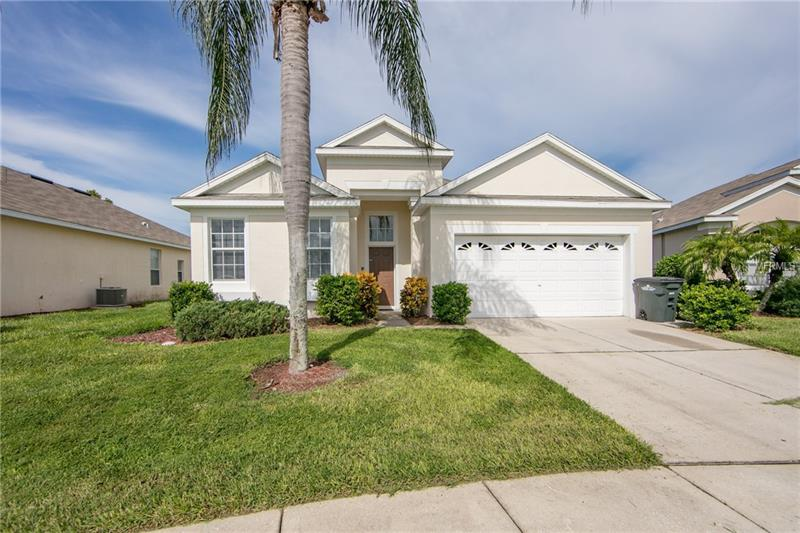 Make your appointment today to view this 4 bedroom/3 bathroom pool home in the community of Windsor Palms. This home offers a spacious open floor plan which includes a formal dining area, family room which opens to the kitchen and breakfast nook. Kitchen features all appliances and kitchen island. Walking in through your foyer, there are 2 bedrooms and a bathroom to the left. Next to the dining room is a bedroom and a bathroom. Owners retreat is generously sized with owners bathroom with dual sinks, garden tub and separate shower. Enjoy lounging on your covered patio and west facing pool. Some updates to the home include: Pool resurfacing, new pool light, and new roof being installed. Windsor Palms is a guard gated community and features a community pool, spa, clubhouse, sundry shop, movie theater, games room, tennis courts, basketball courts, and playground. Conveniently located off of Hwy 192 Windsor Palms is near shopping, restaurants, and major highways.  **Brand new roof just finished being installed October 2017**