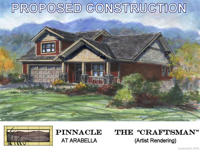 PROPOSED CONSTRUCTION in the Pinnacle at Arabella Heights, a new, gated subdivision in Arden NC.  The Pinnacle 4 is a low-maintenance home with one-floor living.  Enjoy your patio with wooded privacy; vaulted & tray ceilings; sunroom; granite countertops; hardwood floors; gas fireplace; multi-zoned HVAC; tankless water heater; solid-core doors; frameless master shower door; & NO YARD WORK.  Huge selection of interior finishes let you personalize the home to suit your own unique style.  Community includes: clubhouse with fitness center; neighborhood pool; and walking trails.  Full city amenities with underground utilities, city sewer & water, yet county-only real estate taxes.  Convenient to Biltmore Park, only 5 minutes!  Long-range community views of Asheville & Biltmore Estate! Energy Star/Green Built.  Add optional 330 sq ft FROG for 3rd bedroom and bath.
