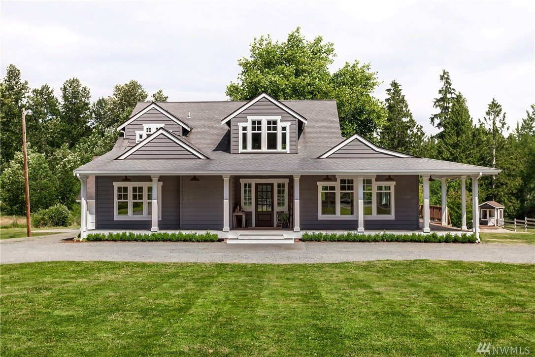Imagine…waking up in a Pinterest dreamhome. You pour a coffee in the kitchen with its quartz countertops, La Cornue range, farmhouse sink & Sub-Zero fridge, & sit on your wraparound porch staying warm next to the see-thru fireplace. You gaze over your 4+ acres & watch the sunrise peak over Mt Pilchuck. You grab clothes from the walk-in closet in the master suite w/vaulted ceilings, slide the handmade barn door closed & slip into your clawfoot tub for a soothing bath. Can you imagine living here?