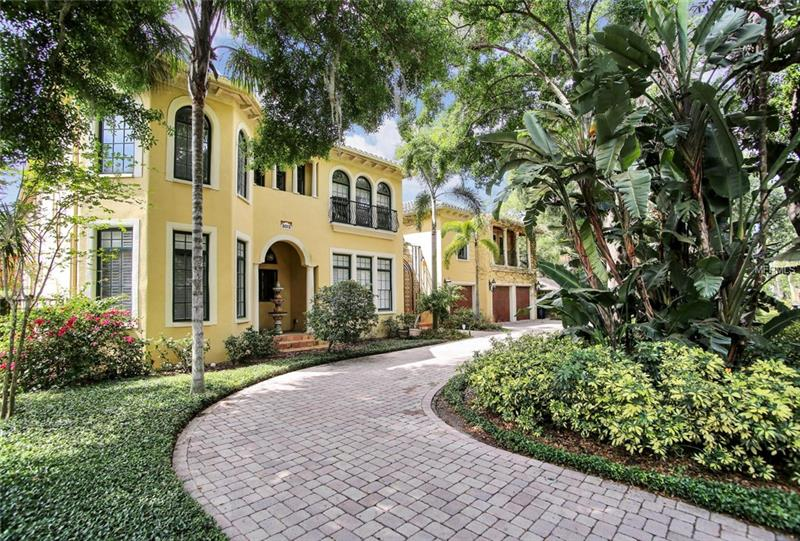 This home is large and on the block between Bayshore and MacDill.  It's  a very large home with 6-8 bedrooms – 5/6 upstairs and office or sitting room.  The entrance is two stories and so large with a fireplace, winding stair case and could accommodate a formal living room. The downstairs has a bedroom and full bath;  a  half bath and a dining room that could be another office as there is so much room in the family room which is open to a kitchen and a sitting room or/dining area.  There is an outdoor kitchen and wine cellar, a pool house and pool play yard.  The house is in need of some updating but is a truly great family home that would be good future. This fabulous home has easy access to Downtown Tampa, St. Petersburg and Clearwater, all Pinellas beaches, Tampa schools, both private and public, International and other shopping malls, International and private airport, and is only 1/1/2 hours from Disney.  To many rooms to put into MLS.   The two bronze statues and the chandeliers in dining and family room do not convey