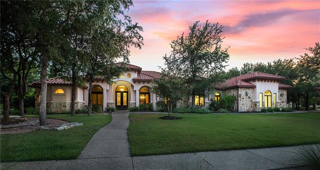 Stately and palatial Mediterranean home on 1.5 acre corner lot with neighborhood airstrip.  Each bedroom is a mini-master, soaring 14' ceilings, impeccable gourmet kitchen, hand scraped wood floors, stunning master bath with wrap-around shower, spacious outdoor living area, Rain Soft water treatment system, Viking sliding security gate and much more.  This location provides quick access to Parmer, 1431, 183 and 35 and is zoned for LISD.  Also, seller also owns an exclusive hangar lot that is negotiable.