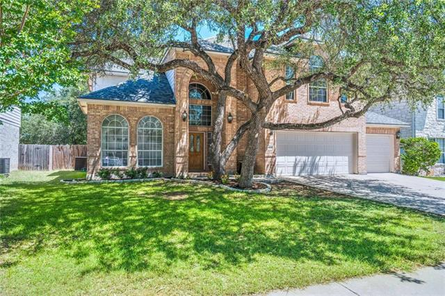 Elegantly updated home! Spacious, open rooms to entertain and enjoy the family. Large kitchen with SS appliances, granite counters, and breakfast area! Master sanctuary down, 2 bedrooms w/jack-n-jill layout and another by itself with bathroom upstairs. Whole-house (attic) fan! Recent updates: 2 a/c units (replaced 07/18), roof (replaced 05/18), hot water heaters (replaced 2018), flooring, counters, paint & more! Highly ranking Leander schools. 3 car garage w/4 doors and extended slab to hold a trailer.