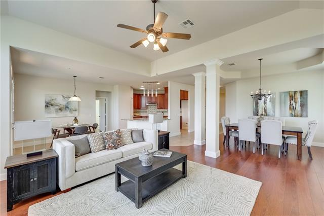 $1,000 towards Buyer's Closing Costs! Looking for a home in the prestigious Bella Vista with hill country views & no neighbor behind...at a lower price than your neighbor with a similar home across the street? You found it! Just a short drive to Lake Travis to enjoy time at the lake.. You'll love the open floor plan & upgraded finishes. This floor plan is great for entertaining! Gas fireplace, granite counter tops, stainless steel appliances, a jetted master tub, & large deck, there is a lot to love!