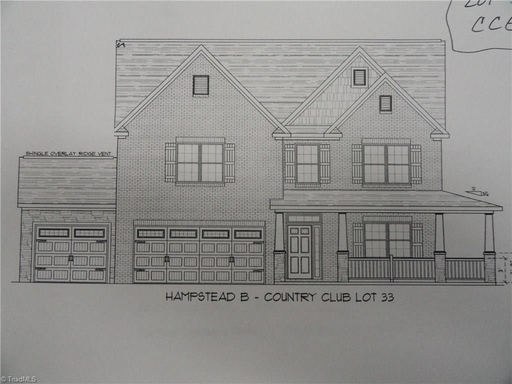 Presale to be built under contract.  Hampstead plan with 3rd car garage, sunroom, and wrap around porch.  Tones of features and upgrades including security system, hardwoods, granite countertops, gas fireplace, crown molding, Home theatre system, upgraded staggered cabinets in kitchen w/ shaker crown molding, convection range in slate, 10-year Quality Builders Warranty and more!