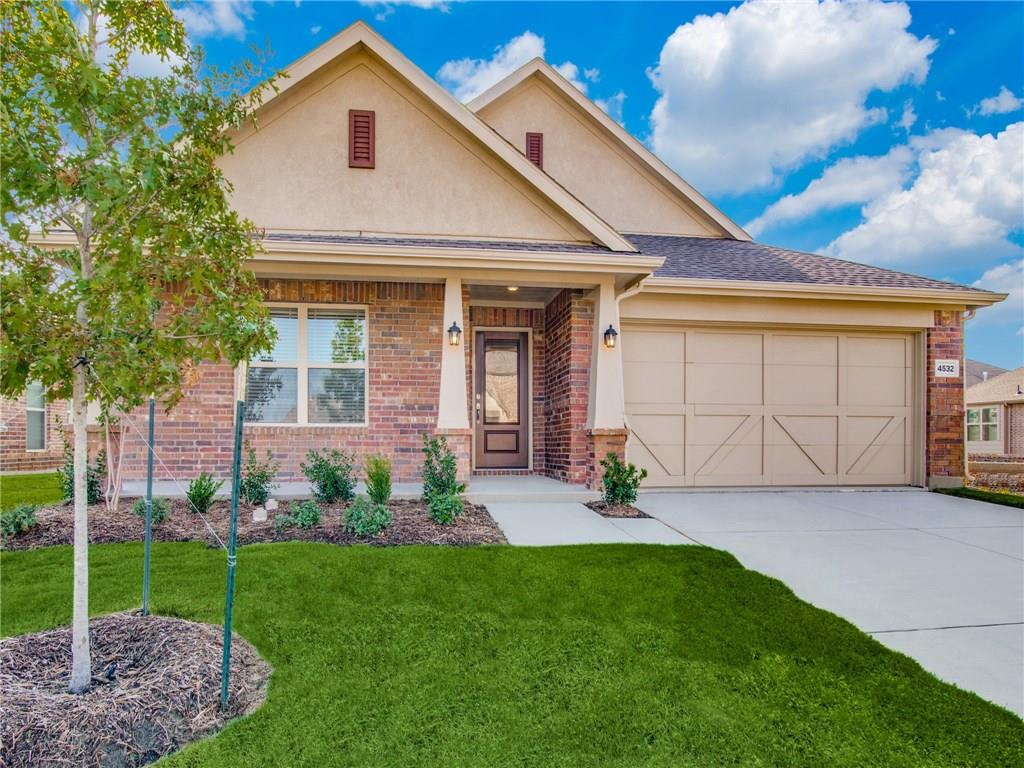 THIS HOME WILL BE COMPLETE BY END OF August 2018. NEW LENNAR 4 bed with 2 bath, formal dining, covered patio & fireplace. Brick & stone exterior. Includes stainless GE appl pkg, 2in. faux wood blinds, granite counter tops, upgraded woodlook tile throughout. Energy features include radiant barrier & programmable TStat. WiFi Certified Smart Home powered by Amazon Alexa! Builder discount included in price. This home complete end of August 2018!!