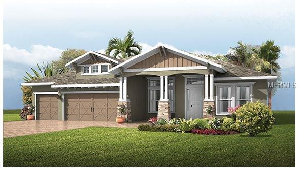 Under Construction - Gorgeous Southern Craftsman Style home w/a dock on a quiet lagoon located in a small gated community on a cul-de-sac road at Enclave at Lake Padgett. This beautiful spacious open floor plan offers 4 bedrooms, 3 baths. It also includes a formal dining room, den, large bonus room, over-sized lanai, 3 car garage, large master suite w/his/her walk-in closet & triple tray ceiling in master bath w/garden tub & huge walk-in shower. Tray ceilings in most rooms. The perfect home for entertaining with friends & family or if you're just looking for a nice quiet view on the water, this is perfect...just a short boat ride through the canal to gorgeous Lake Padgett. YES we can add a pool! No CDD fees and a LOW HOA. Move-in ready by the end of March. Call about current incentives we are offering now! We also have other home sites at Enclave still available to build, PLUS another new community w/1 acre lots at Oakwood Reserve in Lutz COMING SOON w/NO CDD or HOA! Beautiful home sites & outstanding quality built homes, what more could you ask for?