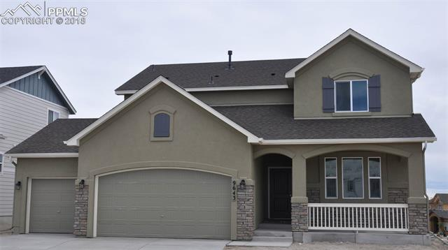 """Ready in August. Sierra 2-story plan with 3 car garage in Wolf Ranch. 4 bedrooms plus study, 2.5 bath home. Kitchen features antique white maple cabinets with 42"""" uppers, granite counters and stainless steel appliances. Air conditioning. Gas fireplace in great room. Gas line to range. Brushed nickel hardware. Unfinished basement includes 1ft taller ceilings and space for 2 more bedrooms and a bathroom. Exterior living includes covered patio."""