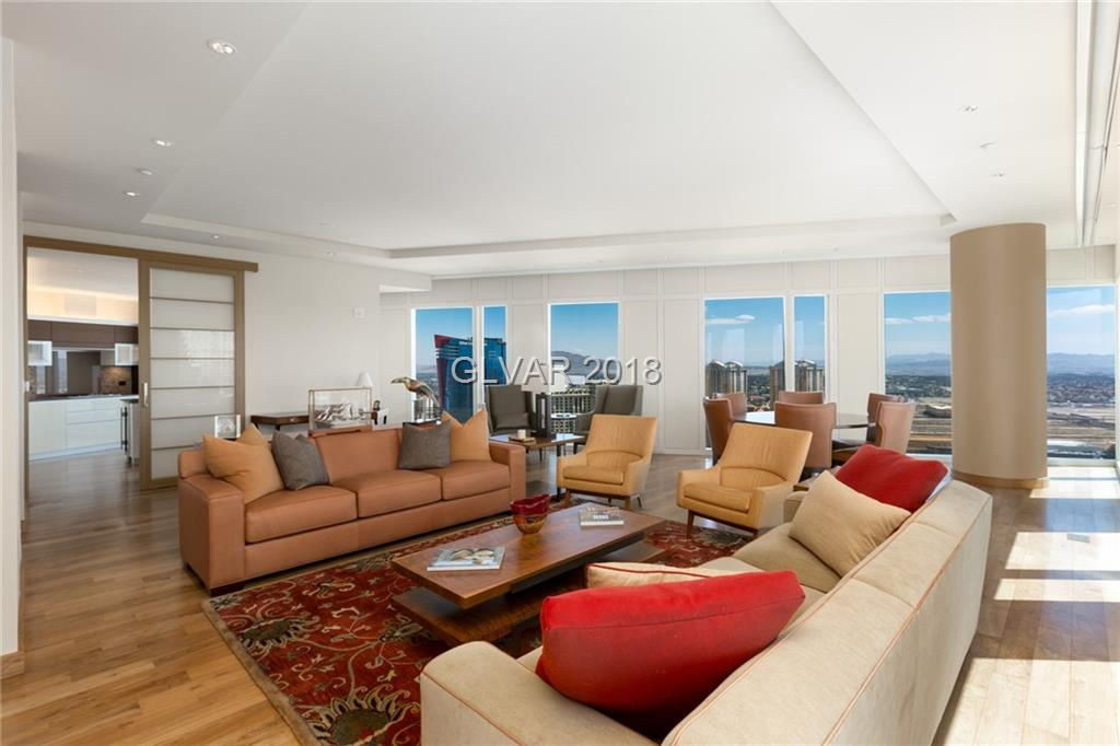 Mandarin Oriental corner-unit with amazing city and Strip views! Luxuriate in unparalleled services and amenities at your finger tips including: concierge, on-site and in-room dining, private valet, 24-hour security, yoga studio, fitness center, board room, word-class spa and more! Walking distance to the finest shopping, dining, art galleries, broadway caliber entertainment and the T-Mobile Arena.
