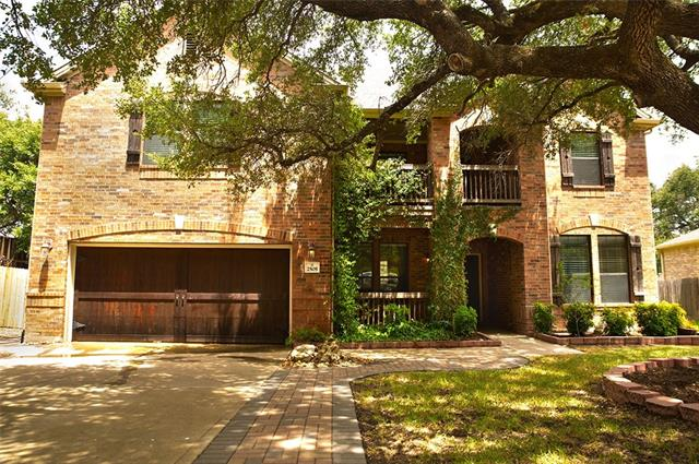Beautiful home with gorgeous oak tree in Silverado Ranch. Walk to schools and community pool. 4 bedroom/3 full baths. Home office with closet downstairs could be used as 5th bedroom and there is a full bath downstairs next to office. Huge loft/media area upstairs as well as a covered porch off the master bedroom. 4 sides brick, new granite & backsplash in kitchen. Carpet replaced upstairs and concrete floors downstairs. Convenient proximity to HEB, Home Depot, shopping & restaurants. Leander ISD schools.