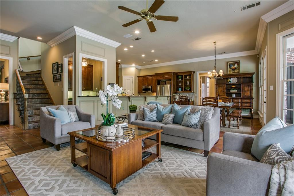 Beautiful traditional home in Coveted Preston Hollow! 6 bed, 6.5 bath custom w spacious rooms, floor to ceiling windows, hardwoods, high ceilings, & a cast stone fireplace. Master, Formal, Family, Kitchen & Guest Rms all overlook the pool. The kitchen opens to a lg. 2nd dining area & den w fireplace. The .38 acre lot allows plenty of space for outdoor amenities including pool, patio, outdoor kitchen & a lg grassy area. The spacious downstairs master has sitting area, large walk-in closet & private entry to the pool. The Main Floor additionally features a handsome Study & Guest Suite. 2nd flr features 4 BRs plus a huge game room for the kids to enjoy their friends. 3 car garage in addition to the circular drive.