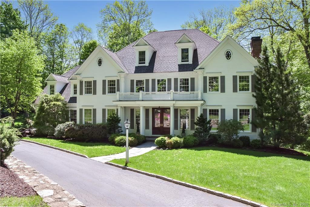 Wonderful opportunity to reside in one of Ridgefield's most coveted cul-de-sac locations. Timeless, Classic Colonial Architecture with a sophisticated, transitional interior vibe. Interior Designer's own home w/high-end appointments throughout. Custom built for current owners by Heritage Homes, known for his quality, up-scale homes. Just completed -new interior design project to reflect the latest design trends including Farrow & Ball color palette, newly updated KIT, bath, etc. High Ceilings in addition to an abundance of windows allow for a tremendous amount of natural light. Fabulous symmetrical, Open Floor Plan w/perfectly proportioned rooms make for a very functional, practical home. On the Main Level you are greeting by an impressive foyer, gracious Living Room w/Fireplace, Formal Dining Room w/Butler's Pantry, Beautiful Office/Library w/custom built-ins, Fantastic Gourmet KIT w/Breakfast Rm - open to a stunning Family Rm w/fireplace. All bedrooms are ensuite including the amazing Master Suite w/Fireplace, spacious WI closet & luxurious bath. Upper level includes Laundry Rm, walk-up Attic + extremely large Bonus/Great Rm. Expansive, walk-out lower level features high ceilings & is ready for the 4th fireplace. Beautifully sited at the end of the cul-de-sac allows for increased privacy. Professional Landscaping/Hardscaping add wonderful curb appeal. Top commute location to all points south - including Katonah Train Station. Turn-key!