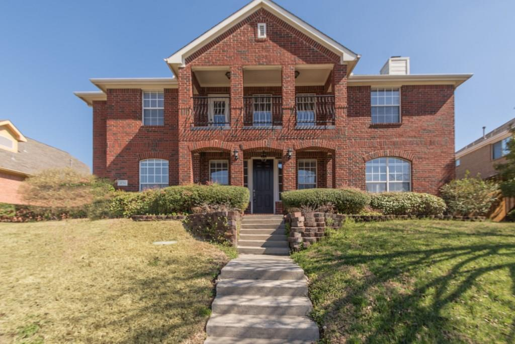 Majestic 2 story home on a hill with a nice view from the balcony! Very few homes in this subdivision, a rare find!