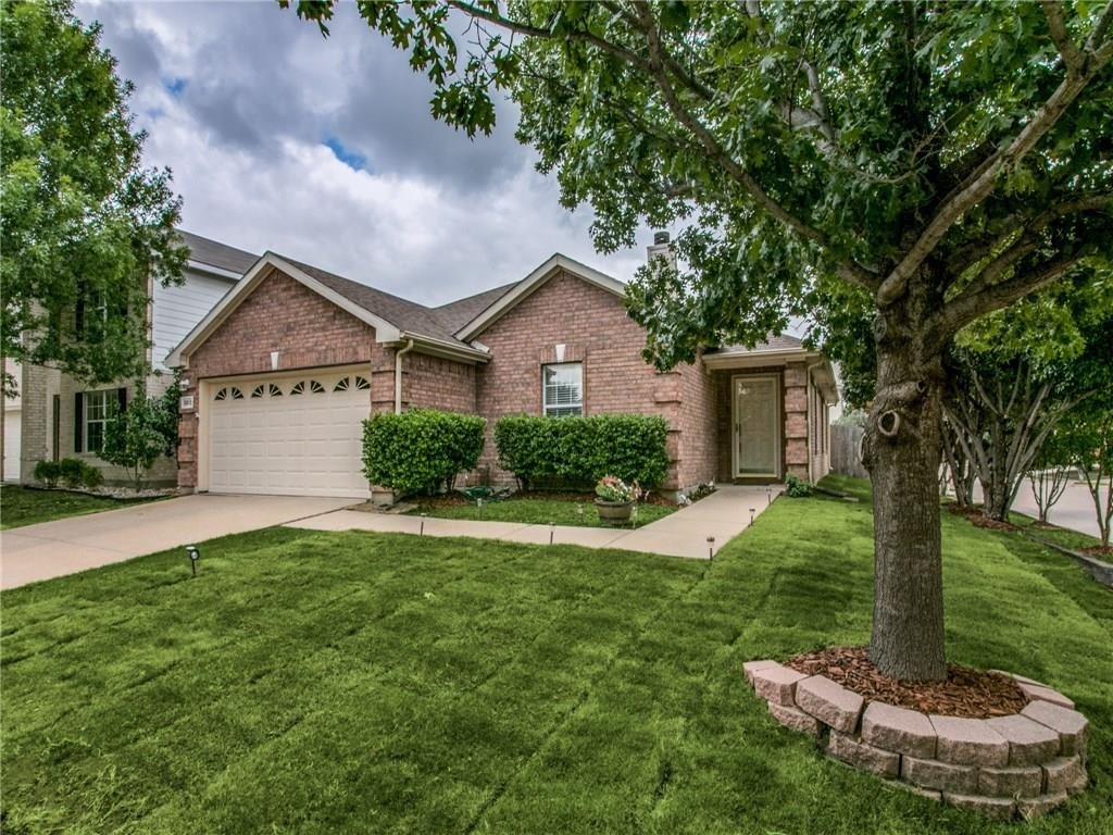 Cute, Cute one story home with pool & spa!  Beautifully landscaped corner lot with recently added sod! Light & bright open floor plan greets you at the entry opening to a large family room with laminate flooring & wood burning fireplace.  Kitchen has a nice amount of rich wood cabinets, pantry & dining area with great views of the back yard.  Wonderfully spacious master bedroom has large walk in closet, soaker tub with shower. Secondary bedrooms have laminate flooring. Per owner, HVAC replaced May, 2018 with Lennox unit. Nice playground & pavilion at end of block.  Close to major highways, 170, 114 and I-35W.  Major shopping at Southlake & Alliance Town Center. Enjoy cute city of Roanoke for dinner.