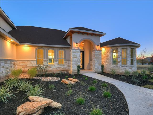 Kevan James Custom Homes, Martel plan. Open floor plan features an elevated entry, exposed beams in Great Room. Kitchen boasts a Texas sized island, Knotty Alder style cabinets, granite counters, Kitchen Aid SS appliances. Master offers space, designer closet, modern shower & Rectangular Free Standing Tub. Two large bedrooms on the opposite side of the home w/ Jack/Jill bath. Bed 4 has the appeal of a jr suite. Bonus room, upper floor & offers flexibility of Media, Game Room or guest suite w/ full bath