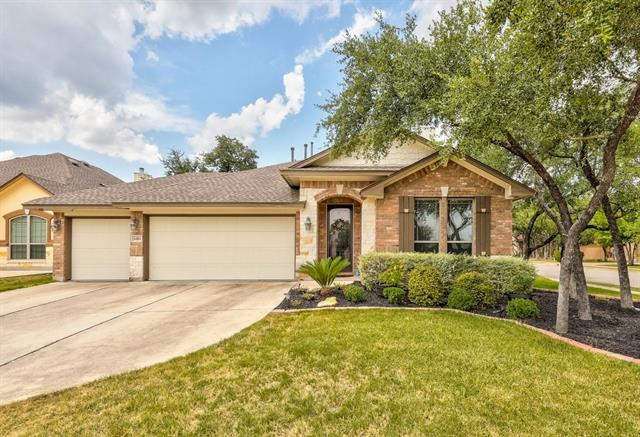 This beautiful  4 bedroom 3 bath home sits on a corner lot with mature trees. Walking into the big open concept family room you can see many of the beautiful upgrades from the granite counter and backsplash in the kitchen, to the plantation shutters, upgraded floors and fireplace in the living room.  The Garage has been upgraded with new floors and built in cabinets with sink. Outside the patio was extended to add more room for entertaining guest and family. To top it off enjoy the big game room upstairs.