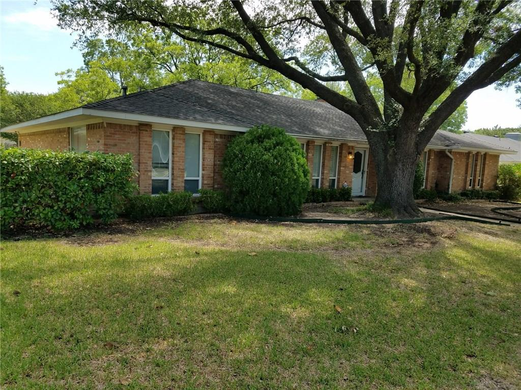 Executive neighborhood with Richardson ISD. Close to Fretz Park's new water park & remodeled library. Spacious family room with vaulted ceiling, beams, paneling, brick fireplace. Garden room is not included in square footage. Split bedroom layout. Very well-maintained home that needs updating. Vinyl double-pane windows, new furnace & coil, one new hot water heater already. Landscaped with sprinklers & mature Oak and Pecan trees. Seller will not do any repairs. No survey available.