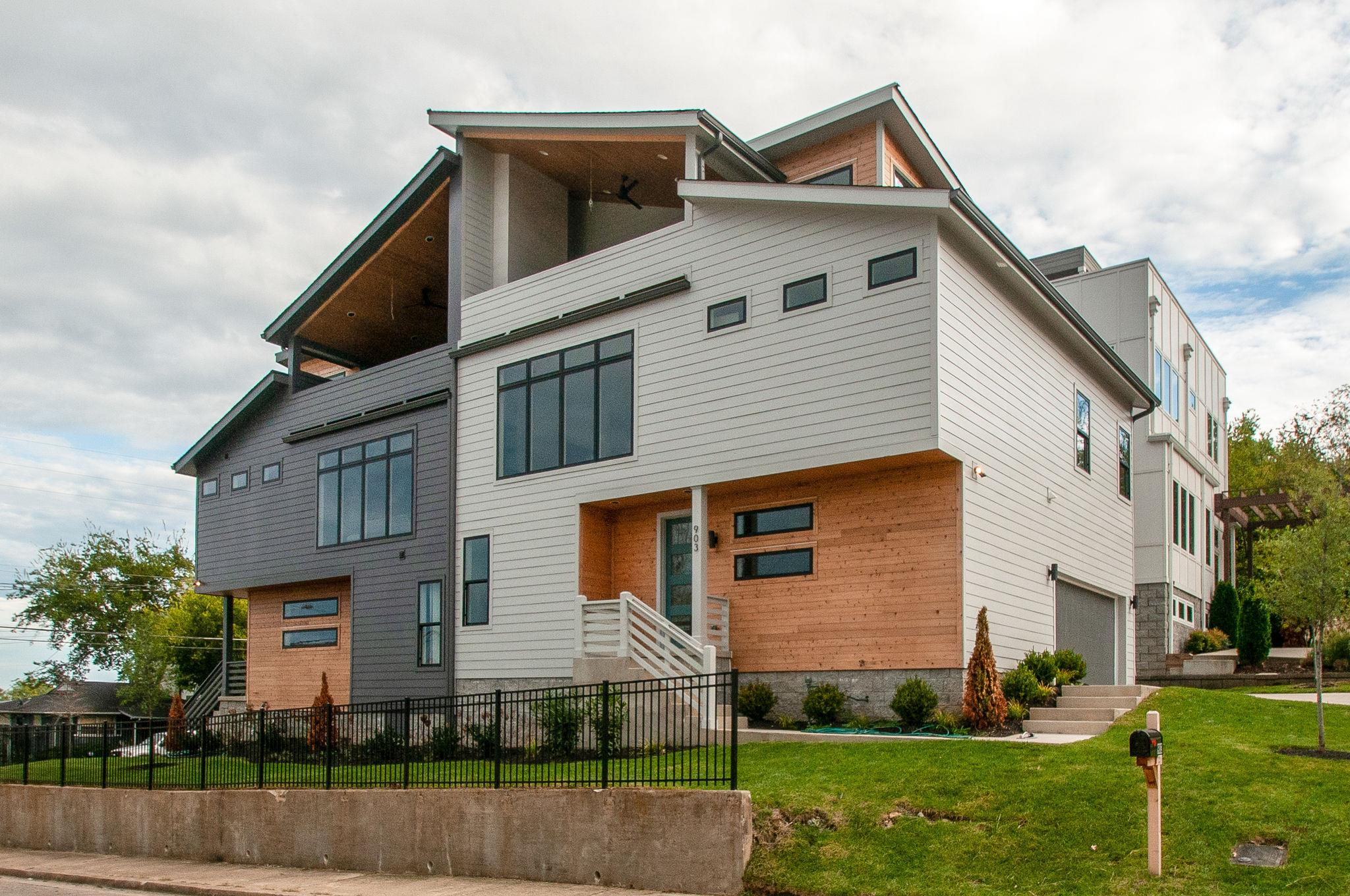 Modern 3 story home in Gulchview - walk to all the Gulch hotspots! Contemporary finishes, 2 car garage, 3rd floor bonus AND guest room w/ full bath! Covered rooftop deck with modern gas fireplace w/ incredible downtown views - perfect for entertaining!