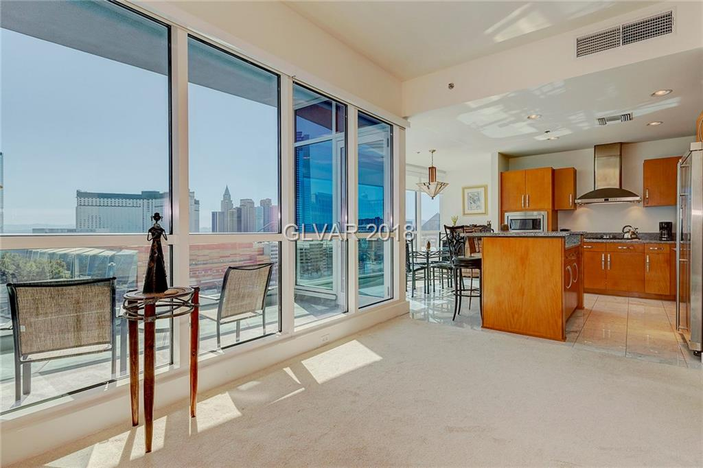 Raider Stadm 1.5 miles away! Amazing strip/city views. Short walk to City Center and T-Mobile Arena. Cstm granite ctrs, SS appl marble floors. Mstr bath has tub/separate shower, dual sinks, large dual closets. 1 garage parking spot, concierge, gym, sauna/pool & more. HOA limo service. Excellent security. Immaculate, only occasionally used as a vacation get away.  Fully furnished with bedding, towels, dishes, utensils, etc. Come see. MOVE IN READY