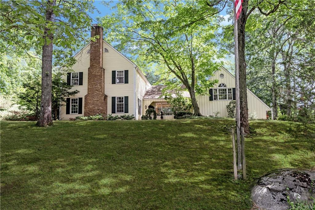 This conveniently located Hoyt Farm colonial was built by original owner with 2x6 construction. Enjoy the private hilltop setting including a free form Sylvan heated pool w/spa. There are hardwood floors under all the carpets and also don't miss the bonus room over the garage. This home is just a few minutes from Merritt Pky, schools and town.