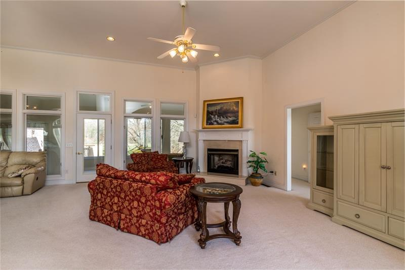 Open Concept Main Level with Fireplace