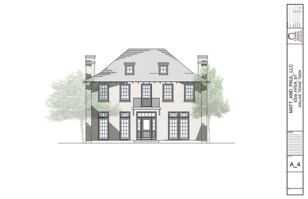 Wonderful Opportunity To Build A Gorgeous Custom Home With An Established Builder And Architect Known 1600000 4309 Hyer Street University Park Texas