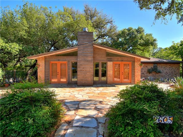 Two homes on .51 acre lot, backs into Shoal Creek. Feels like the Hill country hidden in Cental Austin! Main house (3354 sq ft) is 3/3 Midcentury remodeled in 08' w/ new HVAC & roofs. Master on main w/ access to tree house deck. Large windows/great views throughout. Gourmet kitchen w/ vented hood, concrete flrs, butler pantry. Unique finished basement built partially underground as Cold War-era bomb/storm shelter w/full BA. Can be a studio/media/game rm. Guest house (739 sq ft,) 1/1 overlooking the creek!