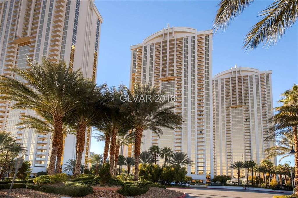 Tower 2, 12th floor 1 bedroom corner unit with balcony and STRIP VIEWS! Snaidero cabinetry with granite countertops. Owner's pool/spa, lounge, gym, valet, concierge, 24-hr, guard gate/security & access to MGM Grand's amenities:  Pool/spa, casino and shopping.