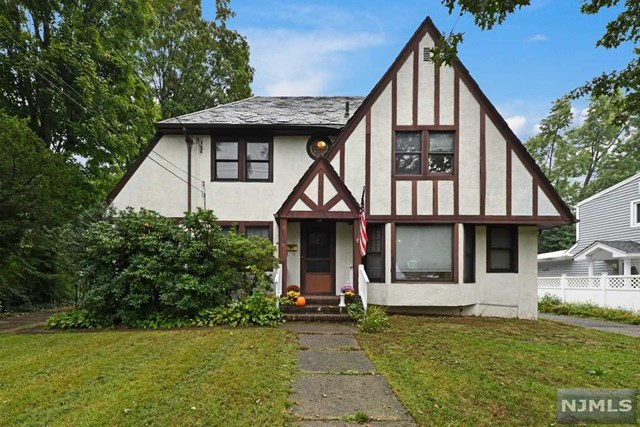 Large charming Maywood Tudor Colonial on HUGE property! Classic Tudor character throughout including living rm w/hardwd flrs, wb/fireplace & built in shelving! Side bonus rm - great for play rm/office or even 4th BR! Formal Dining Rm w/huge walk-in pantry (large enough to be a home office too!) Kitchen w/Island breakfast bar. Fabulous back Family rm to relax each evening! Powder Rm. Upstairs hardwood & 3 good size BRs incl MBR w/Dbl Closet PLUS Walk In Closet (which could be made into a Master Bathrm!) Hall Bathrm. Large bsmt is unfinished & ready for your finishing design! Could be great Rec Rm/Play Rm/Gym etc - also has Full Bathrm! Then you have the MASSIVE backyard!! 180 deep Wow! Over 1/3 acre!! Great for those who love outdoor gatherings - plenty of room for soccer/wiffleball or even a pool! Years of your outdoor fun! 2 car garage, replaced windows, terrific circular driveway (could fit up to 20 cars!) beautiful slate roof, & you have a rare & fabulous home to consider!