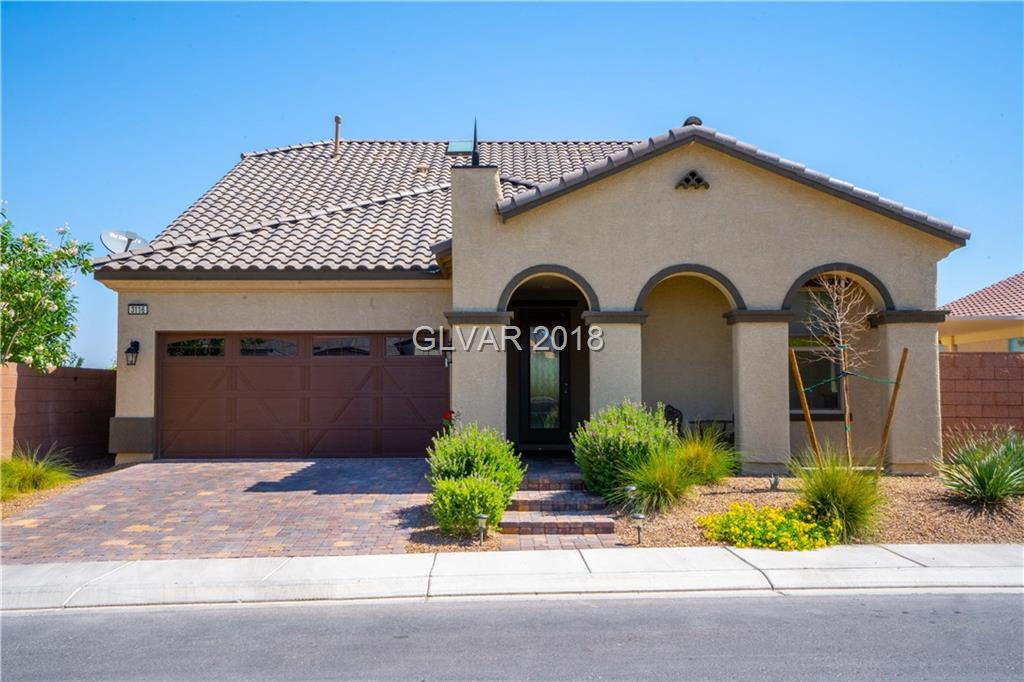 Turnkey home in Inspirada. All Bedrooms downstairs - feels like 1 story!   Surround sound in living room. Double oven, reverse osmosis & granite countertops in Kitchen. BBQ gas line stub, covered patio, garden areas, & additional covered sitting area in backyard. 8 lbs. carpet padding in living room & bedrooms.  Walk in shower, double sink & huge walk in closet in master bath. Den downstairs & Loft upstairs. Loft could easily be used as 4th bed!