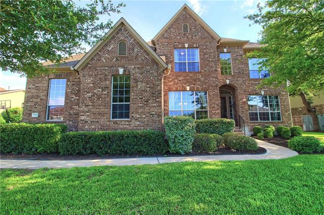 Taylor Morrison builder. Year built 2005. Master bed, Study/flex room and a bed 4th room with full bath all downstairs. Large treed lot 0.39 acre.. All downstairs doors are 8ft tall. Great location in Round Rock Outlets,grocery. Seton & Scott & White hospitals. ACC & Texas A&M colleges. Open floor plan with high ceilings.  Golf course community, has a playground, pool & tennis courts. I-45 toll for easy access to downtown. Must see 3D virtual tour/pics. Call listing agent for floor plan & details.